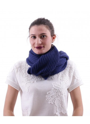 Royal blue scarf, EA7