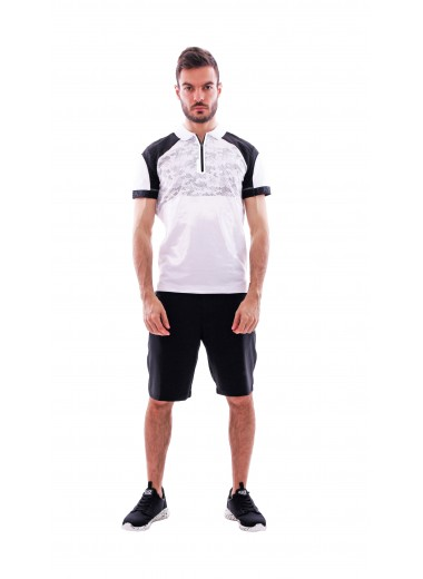 White/silver polo, EA7
