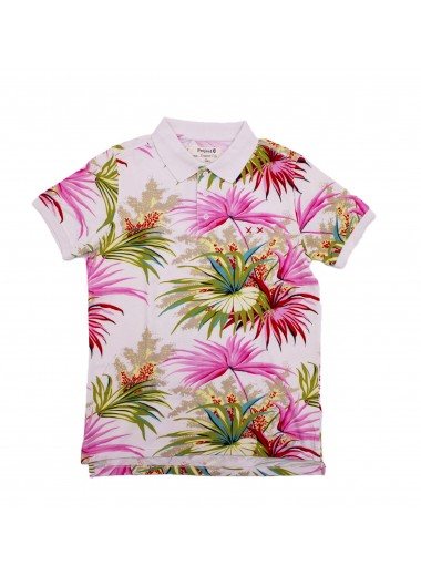 Tropical print polo, Project E XX