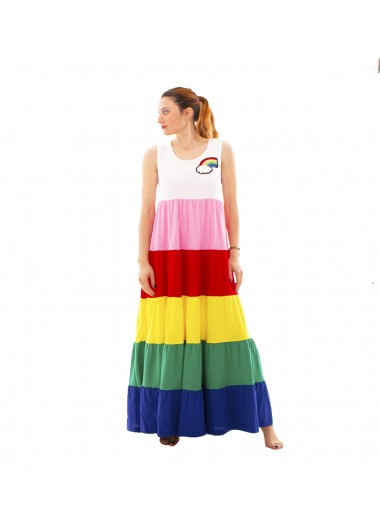 Rainbow dress, Moschino Love