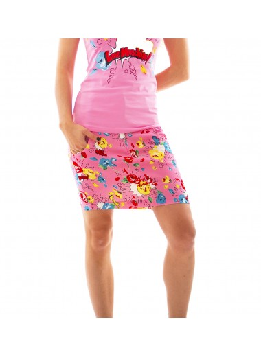 Pop flowers skirt, Moschino Love