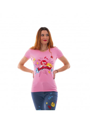Pop flowers t-shirt, Moschino Love