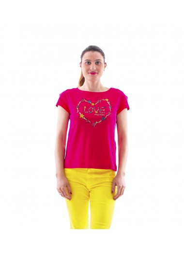 Fuchsia t-shirt, Moschino Love