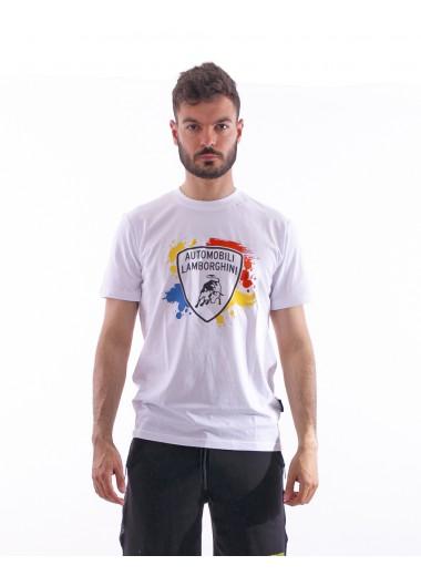 White t-shirt with spots, Lamborghini